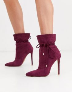 ASOS Design Estonia Slouch Ankle Boots in Purple